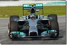 Rosberg nelle prove libere della Malesia 2014