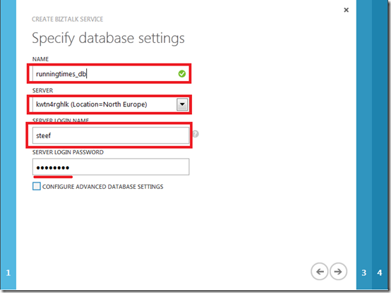 4 database settings