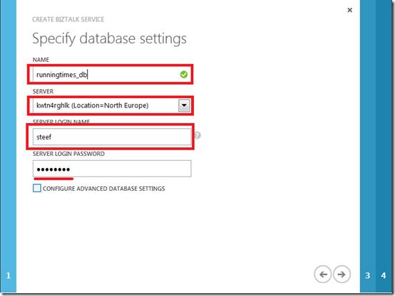 4 database settings