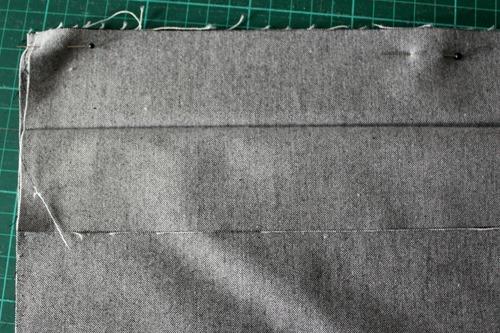 back waistband pinned