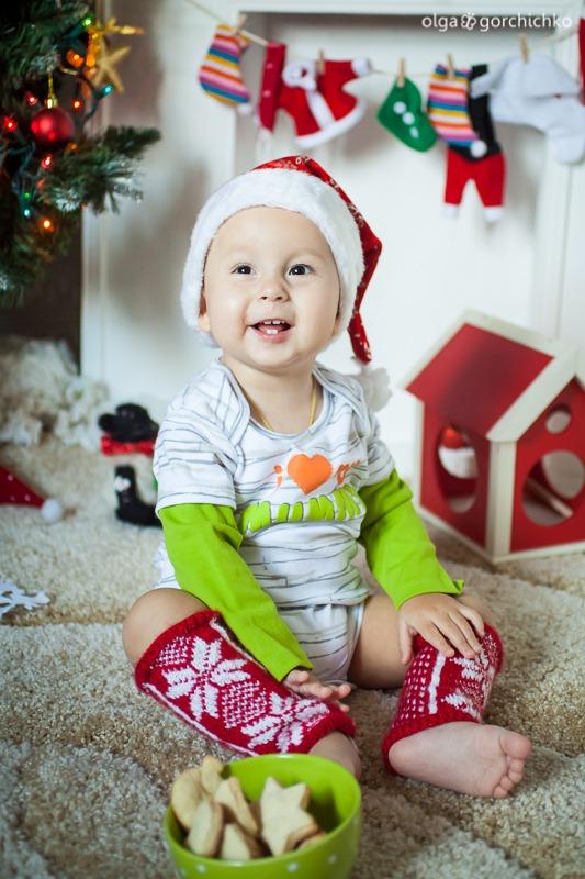 Детский новогодний фотопроект Рождественские мечты. 32. Никита 1 год (Ольга)-13