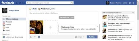 Nuevo método para agregar fotos en Facebook