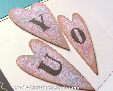 stella chipboard hearts