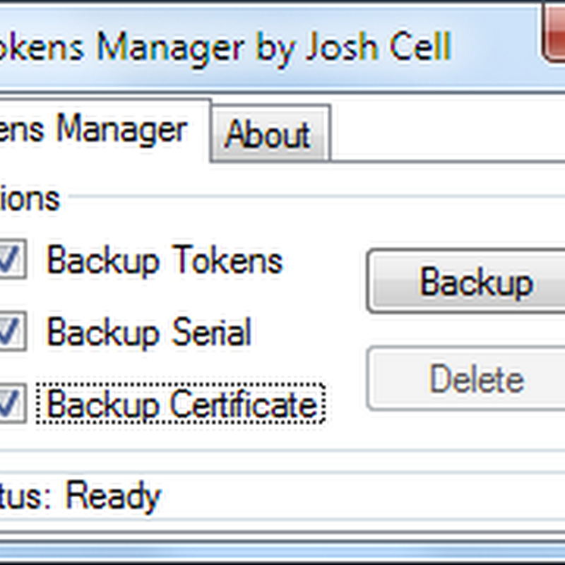 Backup Windows 7 Retail, OEM and MAK Activation With 7Tokens Manager