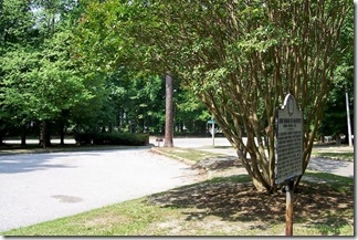 John Bankhead Magruder, CSA marker in Newport News Park Campground Parking Area