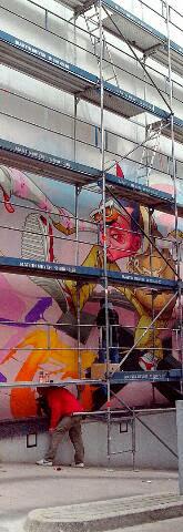 Graffiti Auftrag Fassadenbemalung