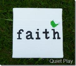 Faith - paper pieced canvas