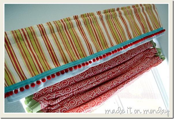 DIY Valance and Roman Shade 2