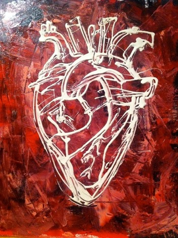 painting heart