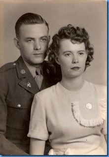 Charles and Lois Burgess circa WWII
