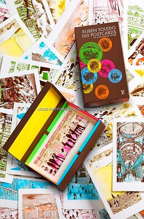 Louis Vuitton Ruben Toledo 100 Postcards set Island Maison Singapore