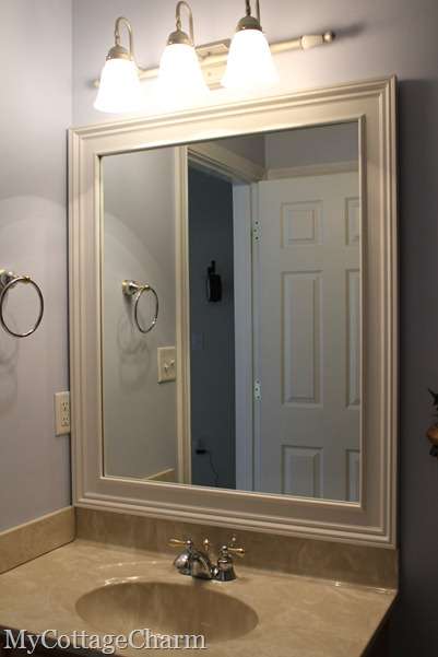 how to add moldings to a mirror