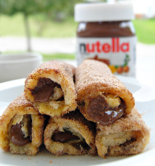 Nutella French Toast Rolls with Cinnamon Sugar 05