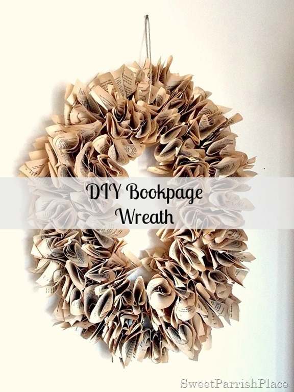 DIY Bookpage Wreath12