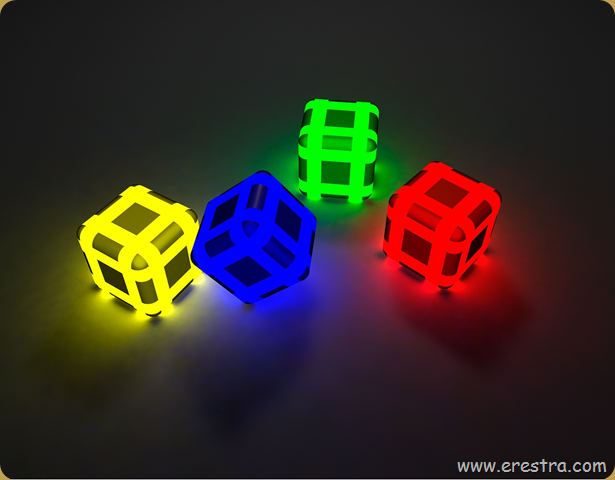color cubes..