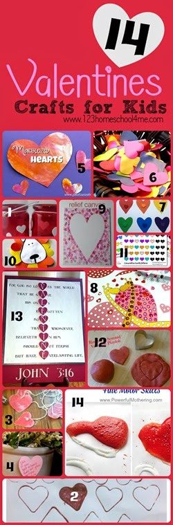 14 fun, creative, and unique Valentines Day crafts and activities for kids of all ages!