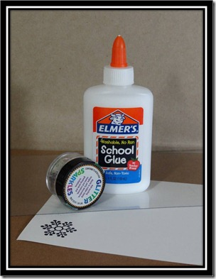 Tutorial - Glitter Glue Snowflake 1