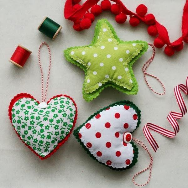 Adornos de fieltro para el rbol de navidad - Adornos originales para navidad ...