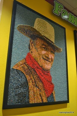 John Wayne in jelly beans