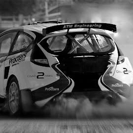 Proctor in dust by Mike Hatfield - Sports & Fitness Motorsports