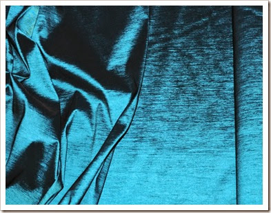Stretchtaffetablackturquoise