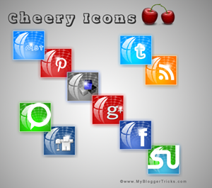 Cheery icons set