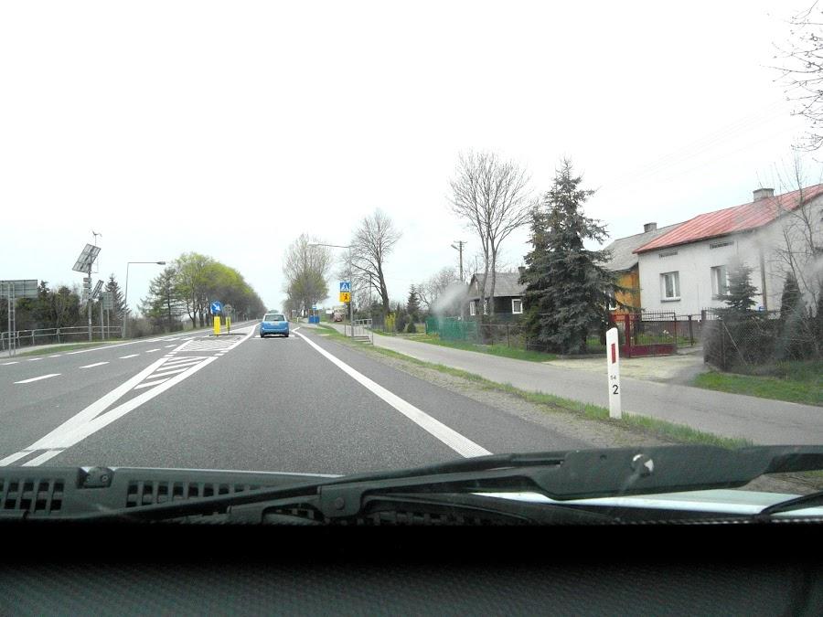 Проезжаем населенный пункт в Польше