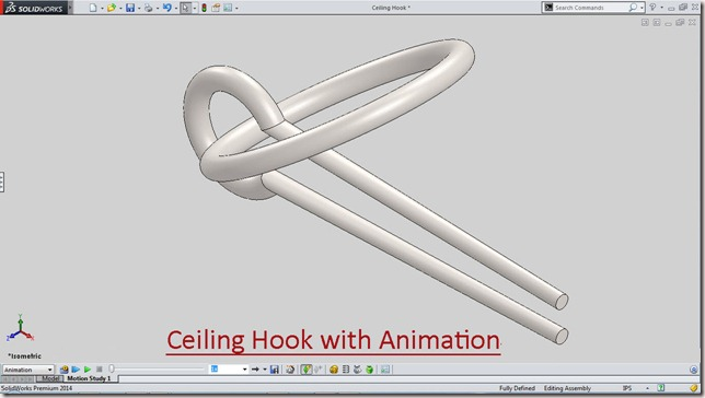 Ceiling Hook with Animation