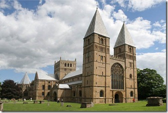 Southwell,_the_Minster,_the_West_Towers,_after_Francis_Frith_-_geograph.org.uk_-_851535