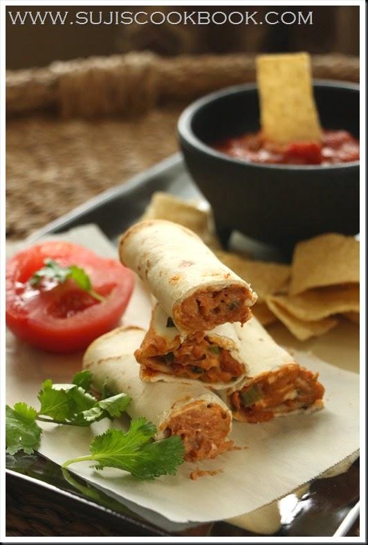 Beans tortilla rolls