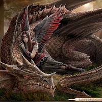dragon rojo guerrera