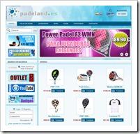 Web Padeland tienda online padel de confianza