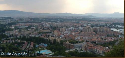 Panorámica sobre Pamplona