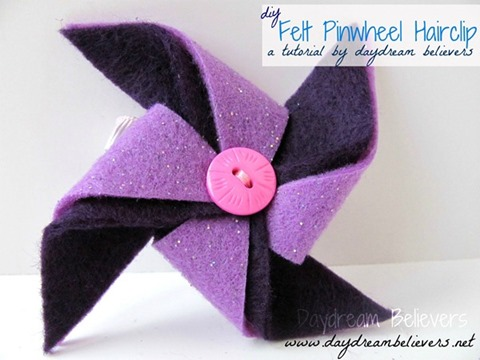 felt pinwheel hair clip tutorial diy 6 wm title[6]
