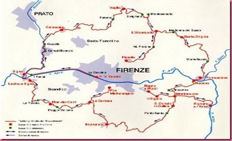 Cartina della Zona di Firenze