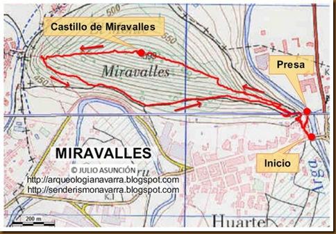 Mapa ruta Miravalles
