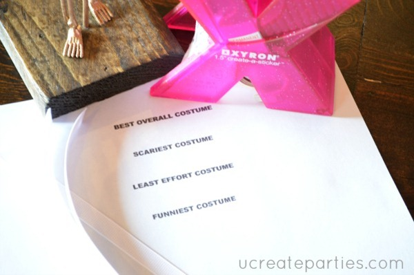 DIY Halloween Party Awards 7