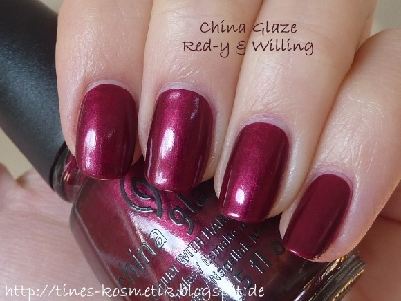 China Glaze Red-y & Willing 3