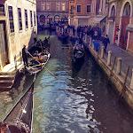Venice - Gondola traffic jam.JPG