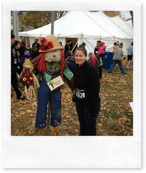 Theresa with Scarecrow Oct 2012