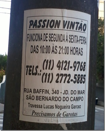 AA - Placa Passion Vintão