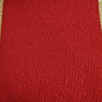 Tkanina obiciowa w pasy z efektem metalicznym. Czerwona, złota.