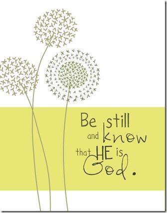 be still 3