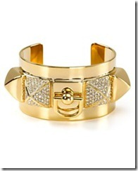 Juicy Pyramid Gold Cuff Bracelet