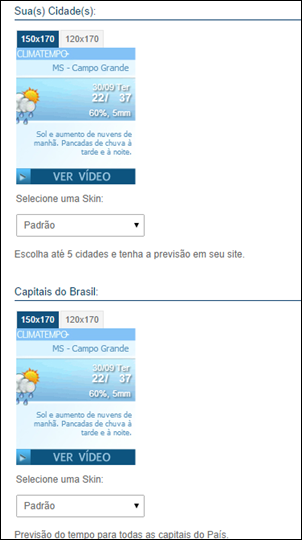 Widget – Coloque o clima no seu blog - Visual Dicas
