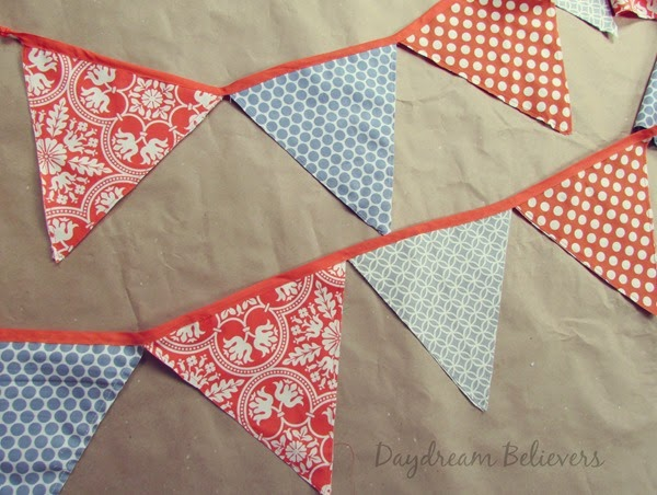 Handmade Fabric Bunting For Sale Craft Display