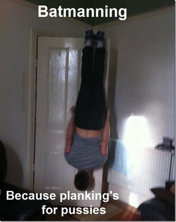 Planking é para menininhas