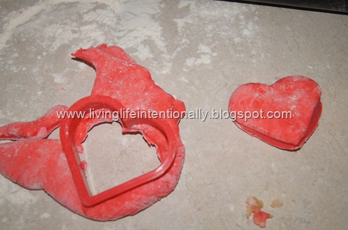 cut out bagels with a cookie cutter