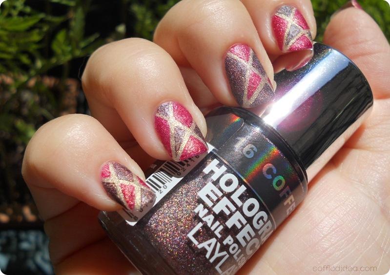 nail art soffio di dea hologram effect layla 15