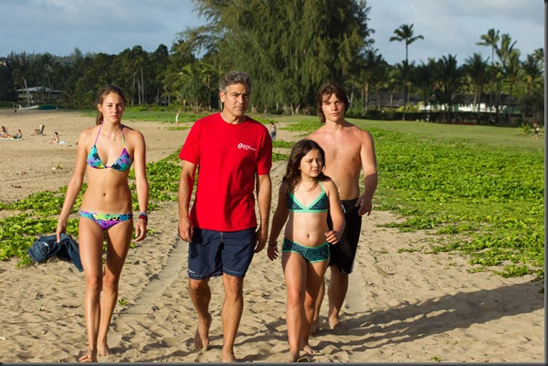 DESCENDANTS shailene woodley, george clooney, amara miller, nick krause